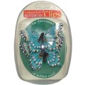 Decorative Butterfly Clips - Pack of 2 - Blue