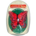 Decorative Butterfly Clips - Pack of 2 - Red