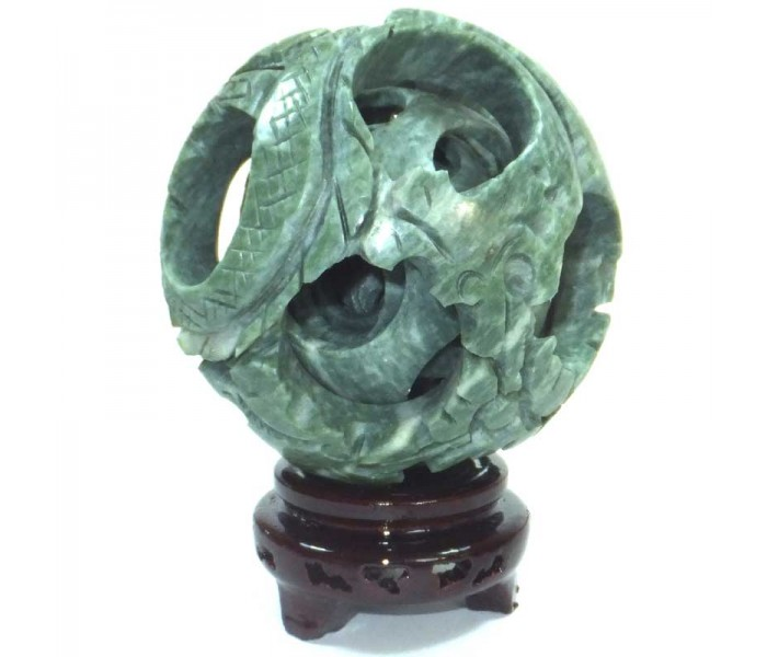 6 Layer Chinese Jade Puzzle Ball