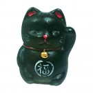 Waving Cat Ceramic Figurine - 5cm Tall.