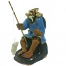 Chinese Fisherman Bonsai Figurine - Harmony Range - Design 7