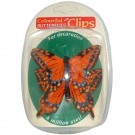 Orange Butterfly Clips
