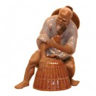 Glazed Fisherman - Chinese Figurine