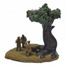 Chinese Clay Ornament - Men Under Tree