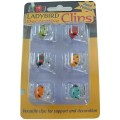 Ladybird Plant or Orchid Clips - Pack of 6
