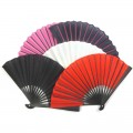 Chinese Coloured Cotton Fans 5 pack