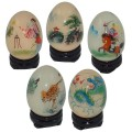 Hand Painted Chiming Egg with Stand - Various Designs