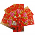 Chinese Red Envelopes - 12 Pack - Floral Designs