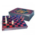 Chess Set in Leather-Style Box