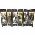 Paintings of Zhang Daqian Tabletop Screen