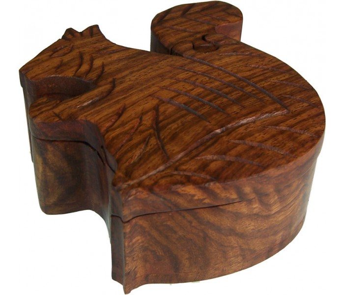 Puzzle Box Sheesham Wood Squirrel Oriental Gifts From