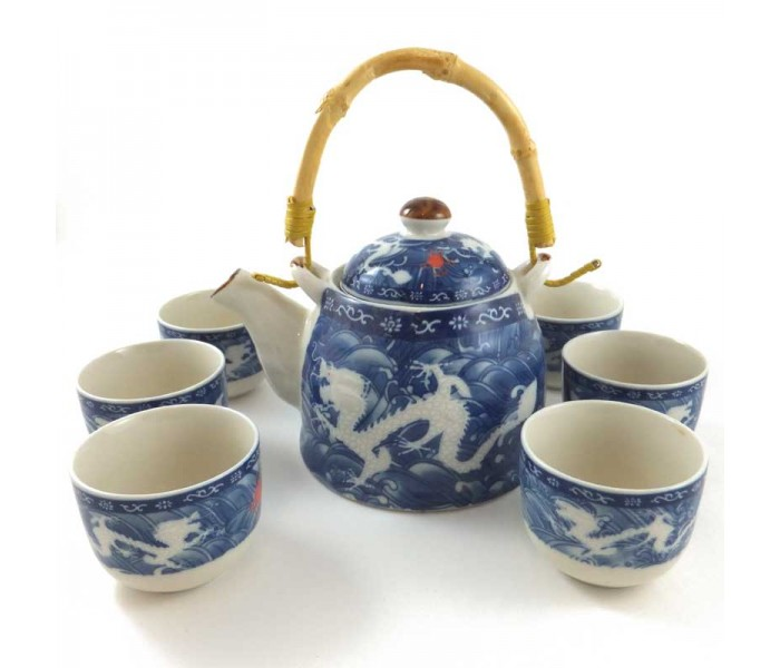 Chinese Tea Set Double Dragon Design Oriental Gifts