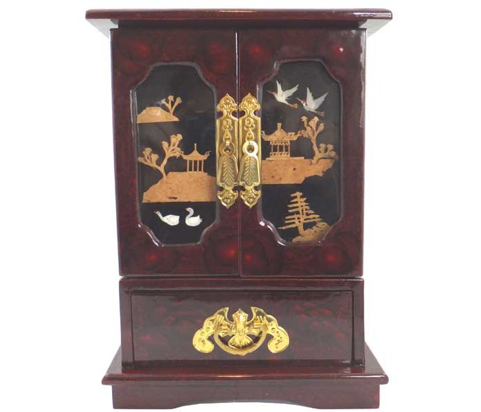 Wardrobe Style Chinese Jewellery Box Oriental Gifts From