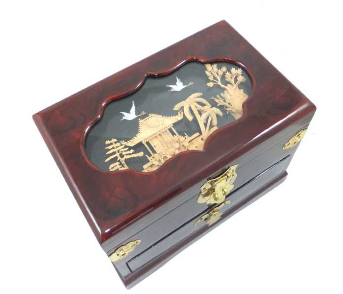 Oblong Chinese Jewellery Box 1 drawer Oriental Gifts from Got