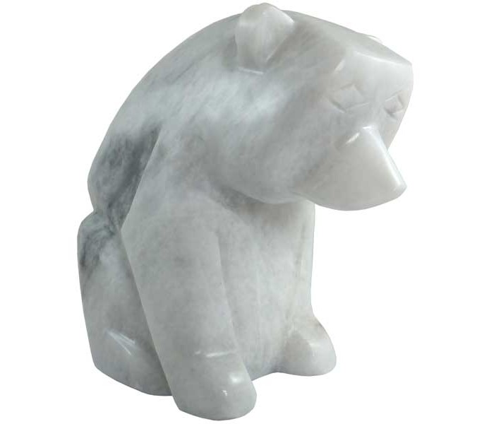 Large White Marble Polar Bear Oriental Gifts From Got