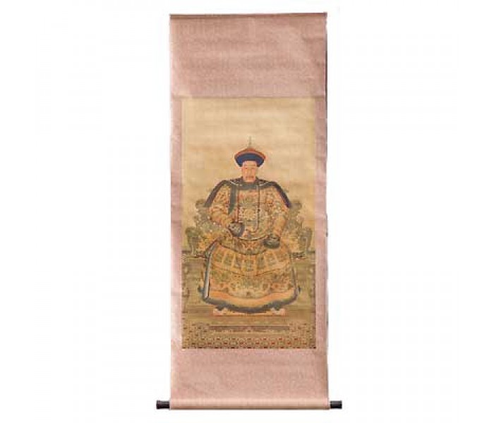Emperor Qian Long Chinese Wall Scroll Oriental Gifts