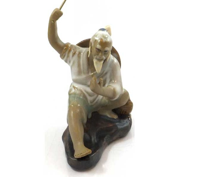 Fishermen Set Of 6 10cm Chinese Shiwan Figurines