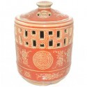 Large Ceramic Candle Holder - Good Fortune