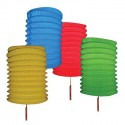 Chinese Coloured Festival Lanterns - 12 Pack