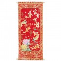 Carp Fish Red and Gold Chinese Wall Scroll