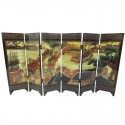 River Scene Painting - Chinese 6 Panel Tabletop Screen