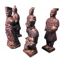 Set of 5 Replica Terracotta Warriors - Av 20cm Tall