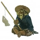 Chinese Fisherman Bonsai Figurine - Harmony Range - Design 12
