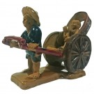 Chinese Adventure Bonsai Figurine - Rickshaw