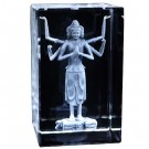 Thousand Arm Buddha Etched Crystal Ornament
