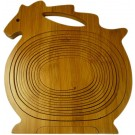 Bamboo Fruit Basket - Horse Shaped
