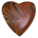 Gemstone Heart - Extra Large - Tiger Eye