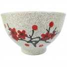 Set of 5 Porcelain Rice Bowls - Cherry Blossom Design