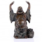 Small Laughing Buddha with Raised Arms