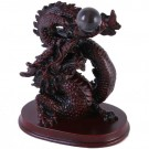Chinese Dragon Clutching Pearl - 18cm tall