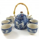 Chinese Tea Set - Double Dragon Design