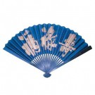 Fan with Stand - Fu Lu Shou Design Blue or Black