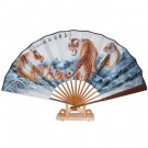 Chinese Fan with Stand - Tiger Design