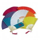 Chinese Plain Coloured Paper Fans 23cm