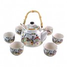 Traditional Chinese Tea Set (Design: Traditional Dancers)
