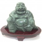 Chinese Jade Buddha 9cm Tall with Stand