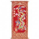 Chinese Dragon Red and Gold Wall Scroll