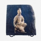 Slate Picture with Stand - Terracotta Warrior