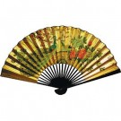 70cm Chinese Wall Fan - Peacocks and Peonies