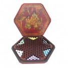 Chinese Chequers Set in Wooden Box