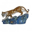 Tiger on Rock - Glazed Chinese Porcelain