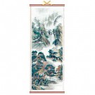 Chinese Mountain and Pine Landscape Wall Scroll