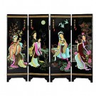 The Four Beauties Chinese Tabletop Screen