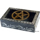 15cm Marble Jewelry Box - Pentagon Symbol