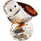 Crystal Ornament Large Owl on Rock