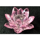 Crystal Lotus Flower 100mm - Pink